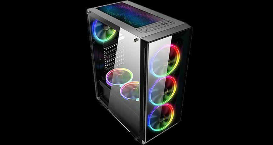 Najprodavanije kućište  Naviatec Vortex 4x120MM ventilatori, LED u boji !!