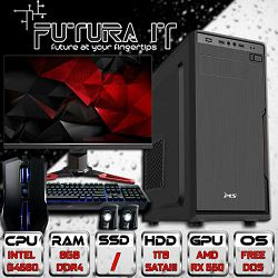 FuturaIT AiO1 Gamer računalo (INTEL Pentium, 8GB DDR4, 1TB HDD, GTX1050 2GB, 22