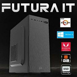 FuturaIT računalo Budget gamer (AMD 200GE 3.2GHz, 8GB DDR4, Radeon Vega, 480GB SSD, 500W, Win10) + gaming podloga