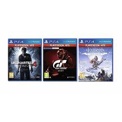3 igre PS4: Gran Turismo+Uncharted 4:A Thiefs End+Horizon Zero Dawn 3igreB