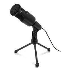 Mikrofon EWENT Professional Multimedia, stolni, crni EW3552
