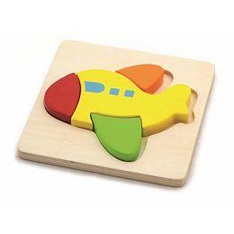 Drvene puzzle 4 dijela - avion