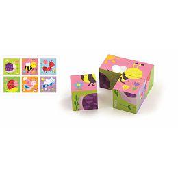 Drvene kocke puzzle - bube (4 kom)