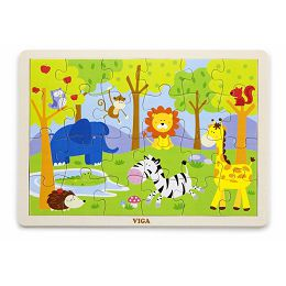 Drvene puzzle 24 kom - safari