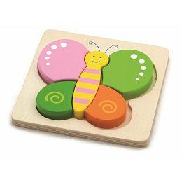 Drvene puzzle 5 dijelova - leptir