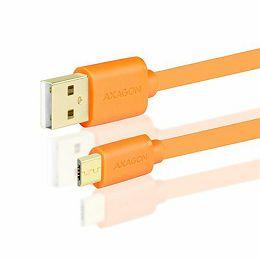 AXAGON BUMM-AM05QO, Kabel USB 2.0 MicroUSB<>USB Type-A,Naran