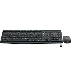 Tipkovnica + miš LOGITECH MK235 Wireless Desktop, bežična, siva, USB 920-007937