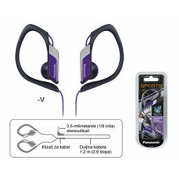PANASONIC slušalice RP-HS34E-V ljubičasta