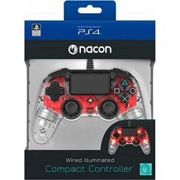 GAME PS4 Bigben PS4 Controller žièni prozirno-crveni