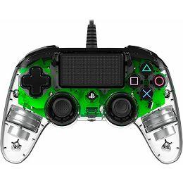 GAME PS4 Bigben PS4 Controller žični prozirno-zeleni