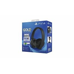 GAME PS4 PS4 Wireless Gold Headset Black + FortniteVCH (2019