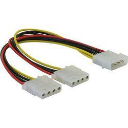 Adapter DELOCK, 4-pin Molex (M) na 2x 4-pin Molex (Ž), naponski, interni 82100