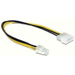 Adapter DELOCK, 4-pin Molex (Ž) na 4-pin P4 (M), naponski, interni, 30cm 65611