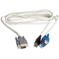 Roline kabel za KVM preklopnik - PC (za 14.01.3224/3225), USB, 3.0m
