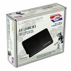 "Eksterno kućište LC POWER, LC-Pro-25BUB, 2.5"" SATA, USB, tamno sivo LC-Pro-25BUB"