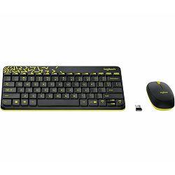Tipkovnica + miš LOGITECH MK240 Nano Desktop Cordless, bežična, crna, USB 920-008383