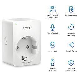 Bežična pametna utičnica TP-Link Tapo P100, paljenje/gašenje uređaja putem mobilne aplikacije, WiFi Tapo P100
