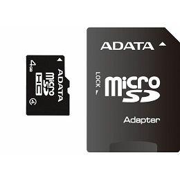 Memorijska kartica Adata SD MICRO 4GB HC Class4 + 1ad