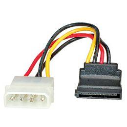 Roline naponski kabel, 4-pin HDD na SATA (90°), 10cm