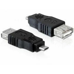 Adapter DELOCK, USB 2.0 (Ž) na USB 2.0 Micro-B (M), OTG funkcija 65549