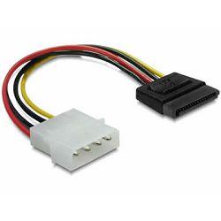 Adapter DELOCK, 4-pin Molex (M) na 15-pin SATA (M), naponski, interni 60112