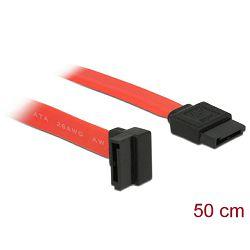 Kabel DELOCK, interni SATA, 50cm, crveni, jedan konektor pod gornjim 90° kutem 84220