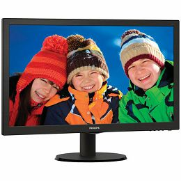 PHILIPS Monitor LED V-Line 223V5LSB (21.5, TN, 16.9, 1920x1080, 5ms, 10M:1, 250 cd/m2, VGA, DVI, VESA) Black, 2y