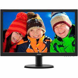 Monitor LED Philips 243V5LHAB/00, V-line, 23.6 1920x1080@60Hz, 16:9, TN, 1ms, 250nits, Black, 2 Years, VESA100x100/VGA/DVI/HDMI/