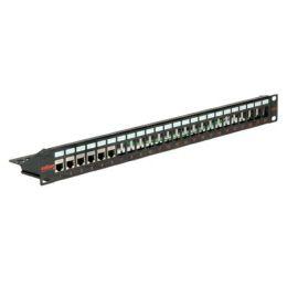 Roline Keystone 19 Module frame Cat.5/Cat.6/Cat.6a, 24-porta STP, crni