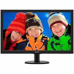Monitor LED Philips 273V5LHAB/00, V-line, 27 1920x1080@60Hz, 16:9, TN, 1ms, 300nits, Black, 2 Years, VESA100x100/VGA/DVI/HDMI