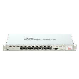 Mikrotik Cloud Core Router 1016-12G, Tilera Tile-Gx16 CPU (16-cores, 1.2Ghz per core), 2GB RAM, 12xGbit LAN, RouterOS L6, 1U rackmount case, PSU, LCD panel