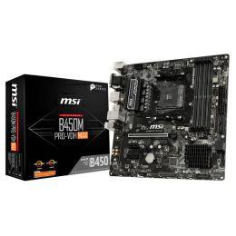 MSI MB B450M PRO-VDH MAX S.AM4, B450 DDR4/3866, PCIe, VGA/DVI-D/HDMI, SATA3, M.2, G-LAN, USB 3.1, 8ch., mATX