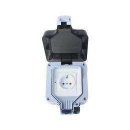 WOOX WiFi Smart vanjska utičnica, 230VAC 16A 3680W, vodootporna IP66, Tuya smart app, glasovna kontrola - Alexa & Google Assistant, Wi-Fi kontrola, Timer/Schedule postavke