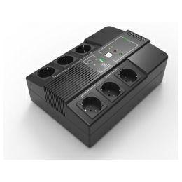 Elsist UPS Multistation 1000VA/600W,  Line-Interactive, discharge, overcharging, overload protection, 6×Schuko, USB×2