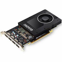 NVIDIA Video Card Quadro P2000 GDDR5 5GB/160bit, 1024 CUDA® Cores, PCI-E 3.0 x16, 4xDP, Cooler, Single Slot (DP-DVI-D Cable incuded)