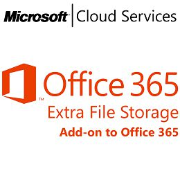 MICROSOFT Office 365 Extra File Storage, VL Subs., Cloud, Single Language, 1 user, 1 year