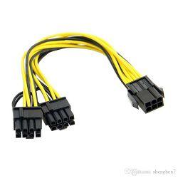 6-Pin-PCIe na 2x 6+2 Pin-PCIe, 15cm