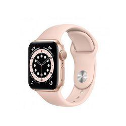 Pametni sat Apple Watch S6 GPS, 40mm Gold Aluminium Case with Pink Sand Sport Band - Regular mg123vr/a