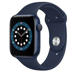 Pametni sat Apple Watch S6 GPS, 44mm Blue Aluminium Case with Deep Navy Sport Band - Regular m00j3vr/a
