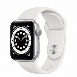 Pametni sat Apple Watch S6 GPS,  40mm Silver Aluminium Case with White Sport Band - Regular mg283vr/a