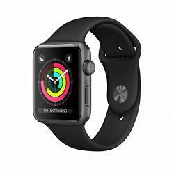 Pametni sat APPLE, Watch Series 3, WiFi, BT, 38 mm, sivi, crni sportski remen mtf02bs/a