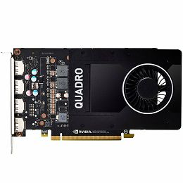 NVIDIA Video Card Quadro P2200 GDDR5X 5GB/160bit, 1280 CUDA Cores, PCI-E 3.0 x16, 4xDP, Cooler, Single Slot (DP-DVI-D Cable incuded)