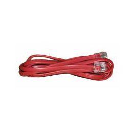 Telefonski kabel 2×RJ12, 1.5m, crveni (bulk)
