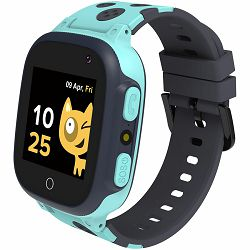 Kids smartwatch, 1.44 inch colorful screen,  GPS function, Nano SIM card, 32+32MB, GSM(850/900/1800/1900MHz), 400mAh battery, compatibility with iOS and android, Blue, host: 52.9*40.3*14.8mm, strap: 2