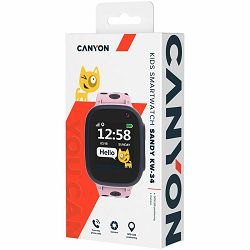 Kids smartwatch, 1.44 inch colorful screen, GPS function, Nano SIM card, 32+32MB, GSM(850/900/1800/1900MHz), 400mAh battery, compatibility with iOS and android, Pink, host: 52.9*40.3*14.8mm, strap: 23