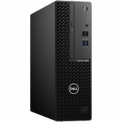 DELL OptiPlex 3080 SFF w/200W, Intel Core i5-10500 (6 Cores/12MB/12T/3.1GHz to4.5GHz/65W), 8GB (1x8GB) DDR4 non-ECC, M.2 256GB PCIe NVMe, Intel Integrated, intrusion, speaker, TPM, 8x DVDRW, DP, HDMI,