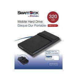 """SmartDisk 2.5"""" 320GB HDD, USB3.2 Gen1, crni"""