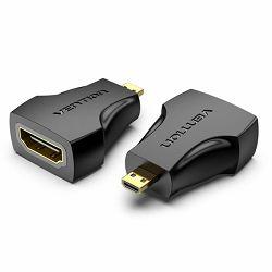 Vention Micro HDMI Male to HDMI Female Adapter Black