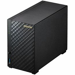 ASUSTOR Tower - 2 bay NAS, New Marvell ARMADA-385 Dual Core, 512MB DDR3, GbE x1, USB 3.1 Gen-1, WOL, System Sleep Mode, warranty: 3 Years