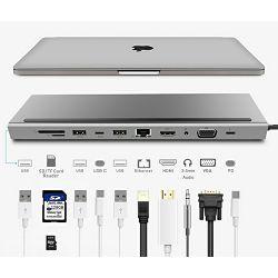 Asonic USB Tip C, 11u1,HDMI/VGA/SD/RJ45/U3 N-UHCH1102